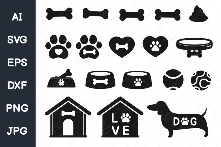 Dog svg, paw svg, dog bone svg, Dog house svg for cricut