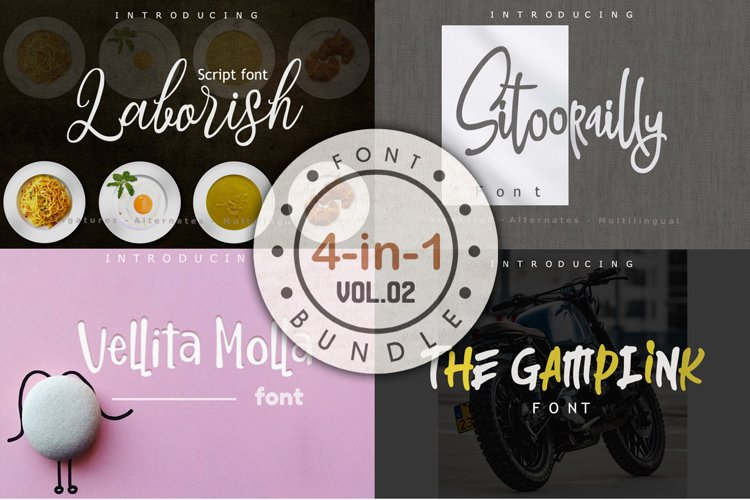 4 in 1 Font bundle Vol 02 example image 1