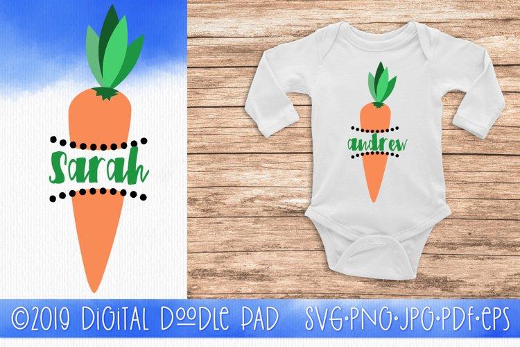Easter Carrot Monogram SVG by Digital Doodle Pad