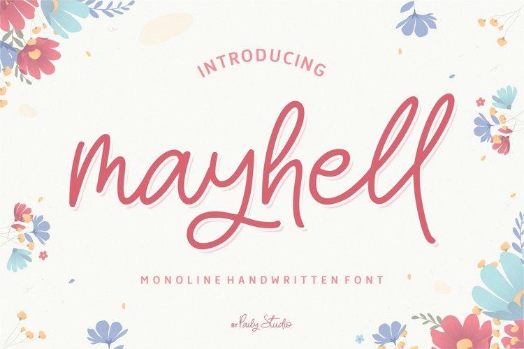 mayhell Monoline Handwritten Font example image 1