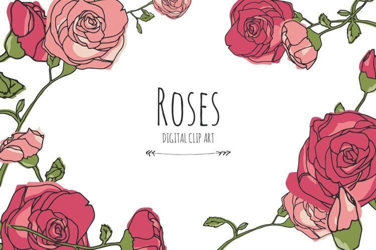 Roses - Digital Clip Art example image 1