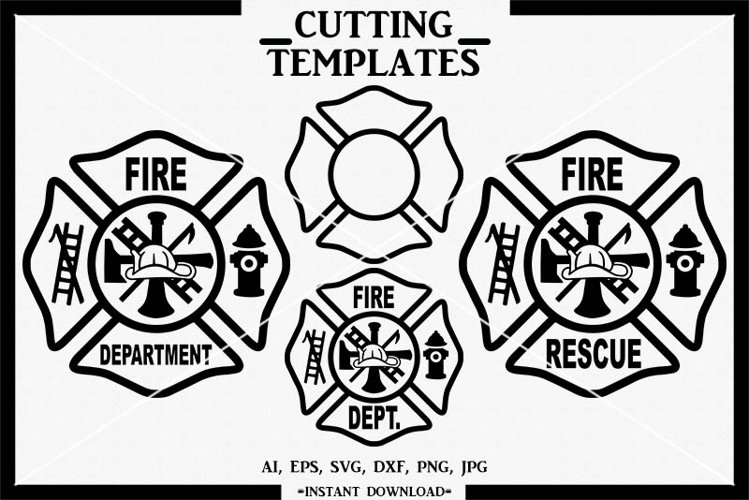Fire Department Logo, Fireman, Silhouette, Cameo, SVG, PNG