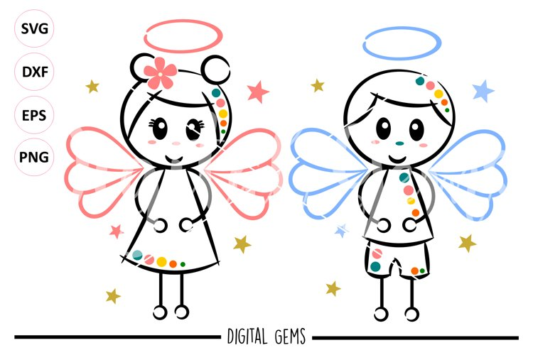 Angel SVG / DXF / EPS / PNG files