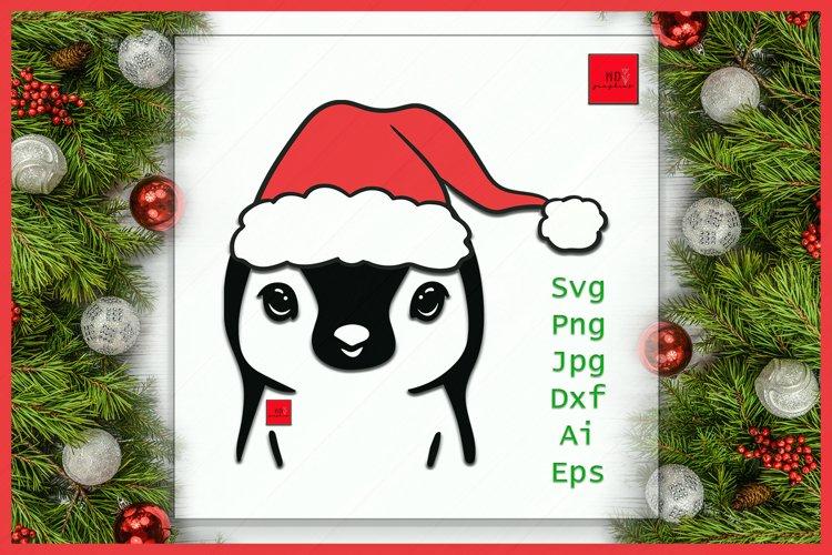 Christmas Penguin SVG, Penguin SVG, Christmas SVG, Penguin example image 1