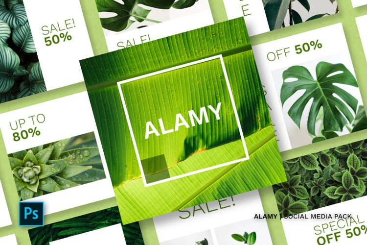 Alamy Social Media Pack example image 1