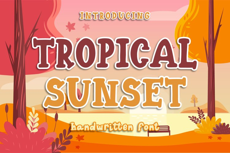 Tropical Sunset - Playful Display Font example image 1