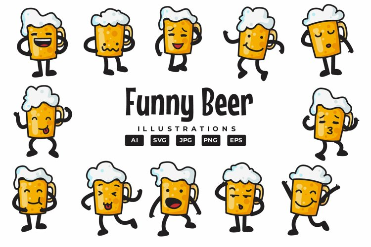 Funny Beer Illustrations example image 1