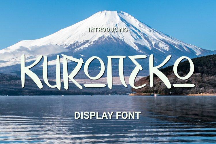 KURONEKO Font example image 1