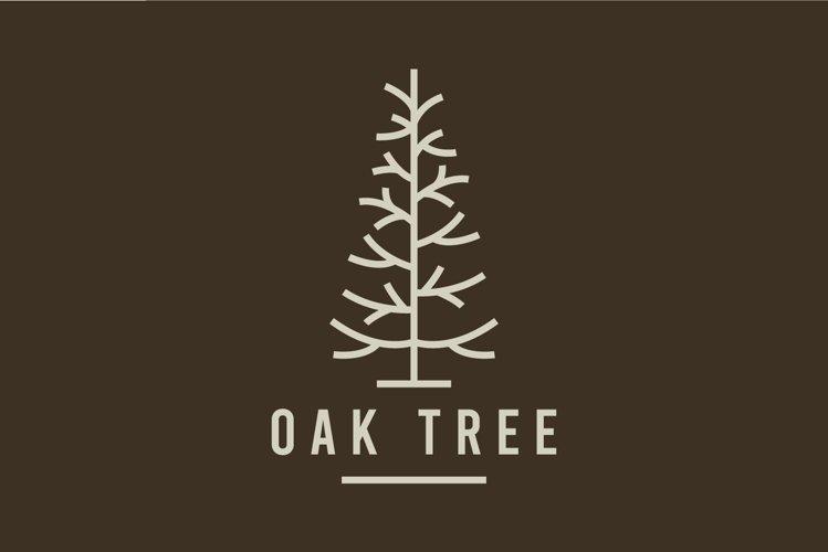 oak tree vector logo design template example image 1