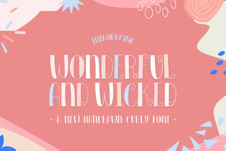 Wonderful and Wicked Font example image 1