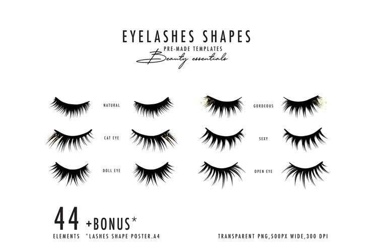 Lashes SVG, Eyelashes extension SVG makeup cosmetic cut file example image 1