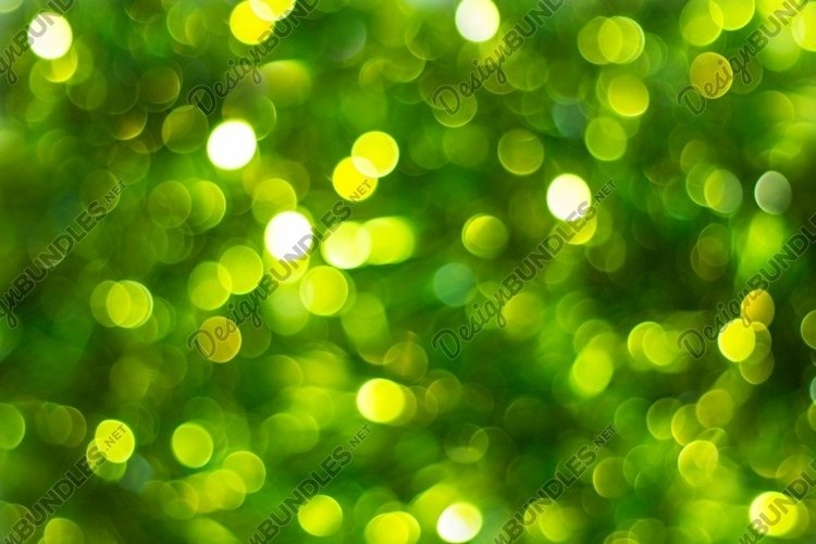 Defocused abstract green background. Blurred holiday bokeh. example image 1