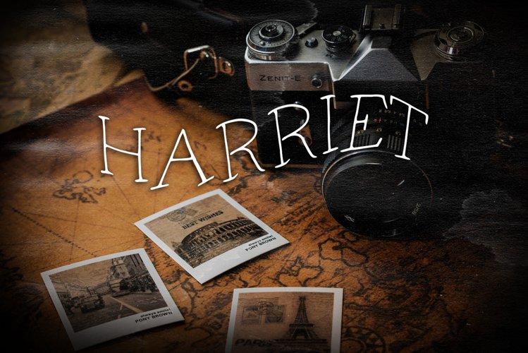 Harriet Vintage Font example image 1