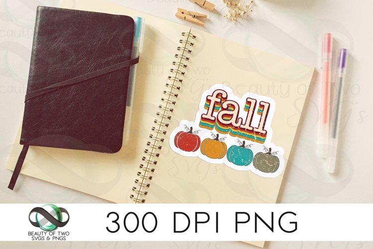 Fall Sticker Design Retro Pumpkin Sublimation png 300 dpi example image 1