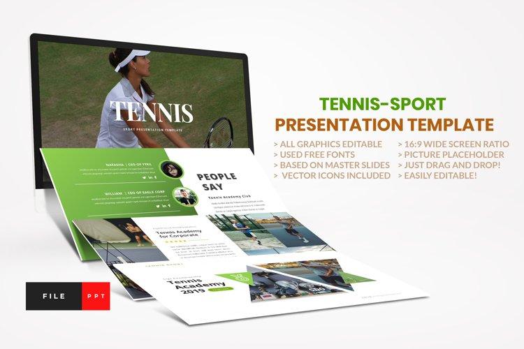 Tennis - Sport PowerPoint Template