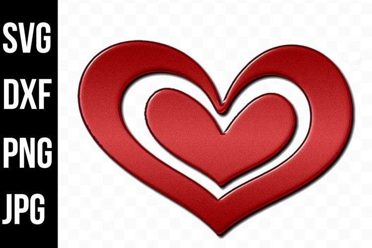Big Red Love Heart, Love, Valentine Day svg, dxf, png, jpg