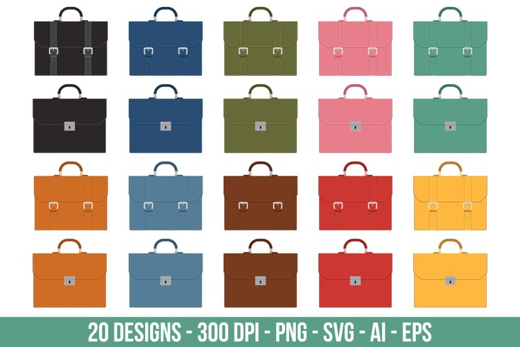 Business briefcase clipart set. example image 1