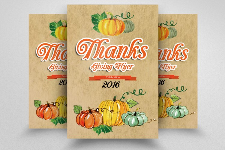 Thanks Giving Party Flyer example image 1