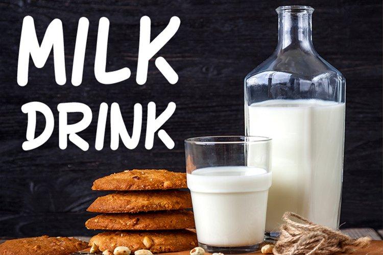 Milk Drink fun font example image 1