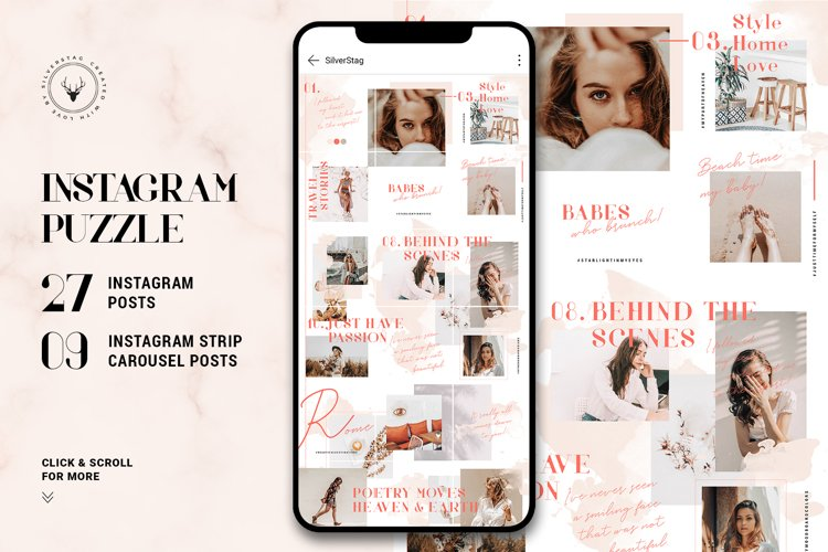 #InstaGrid 9.0 - Watercolor Puzzle Template
