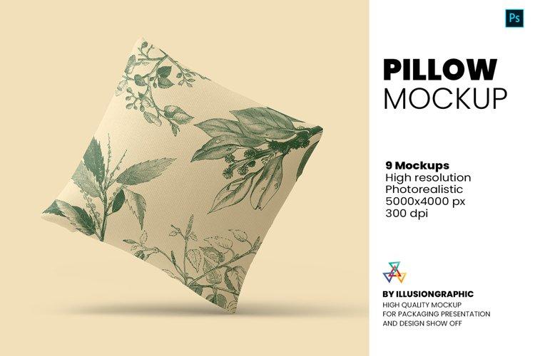 Pillow Mockup - 9 views example image 1
