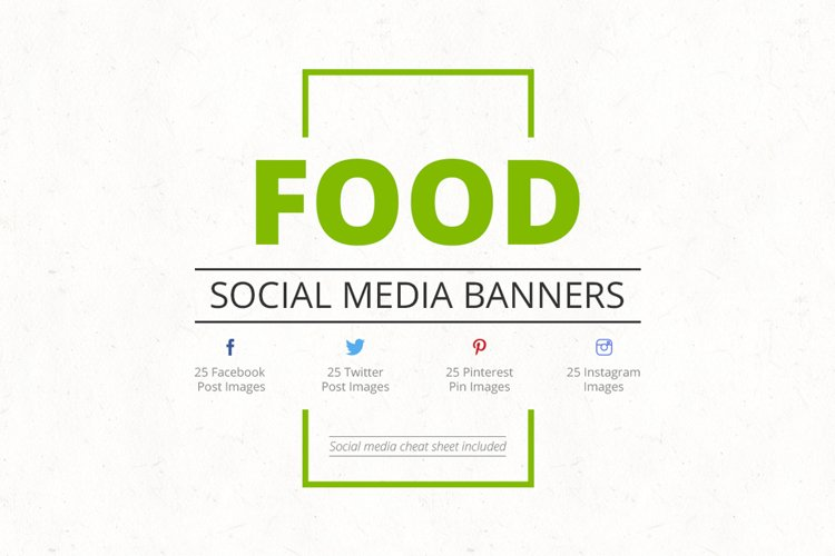 Food Social Media Banners example image 1