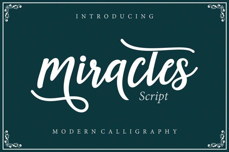 Web Font Miractes script example image 1