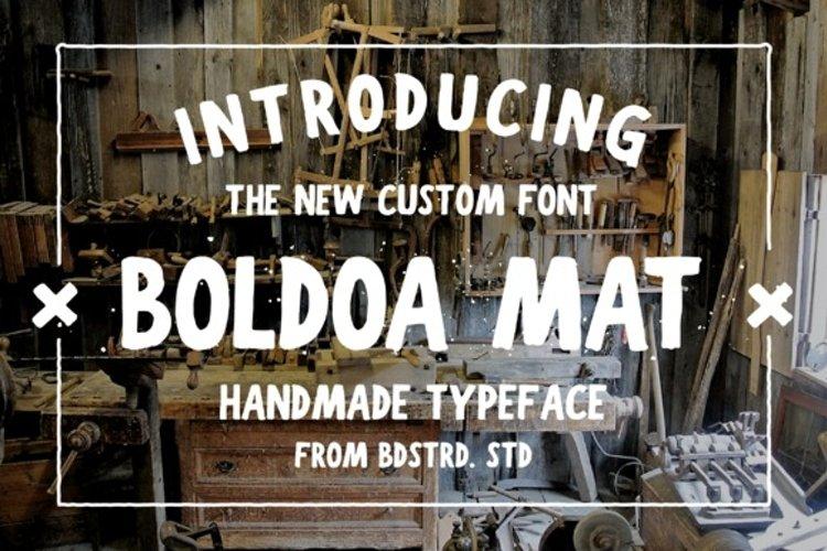 Boldoa Mat Handmade Typeface example image 1