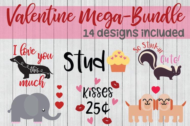 Valentine SVG Mega Bundle, Love SVG Bundle example image 1