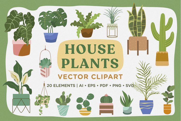 House Plants Vector Clipart Pack