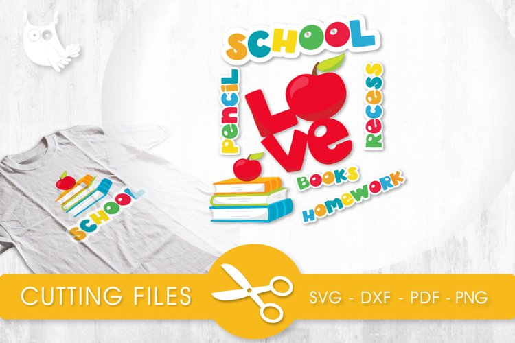 School Titles cutting files svg, dxf, pdf, eps included - cut files for cricut and silhouette - Cutting Files SG example image 1