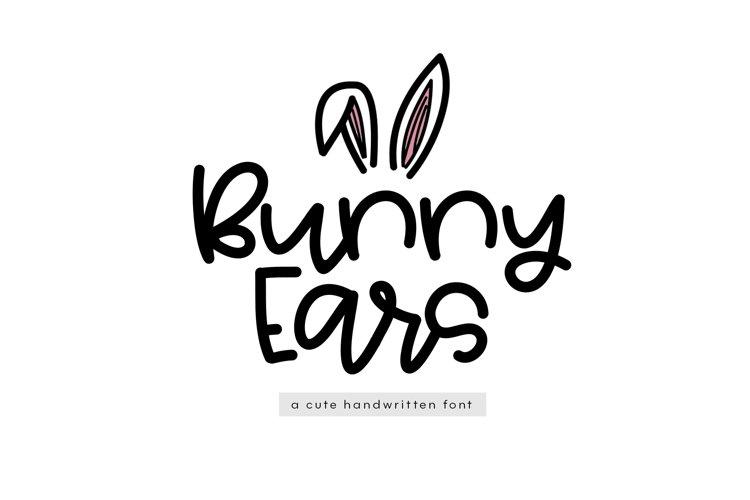 Bunny Ears - A Fun Handwritten Script Font example image 1