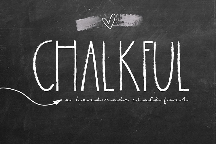 Chalkful - A Handmade Chalk Font example image 1
