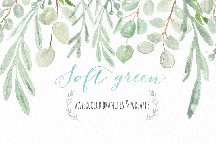 Soft green wreaths & branches example image 1