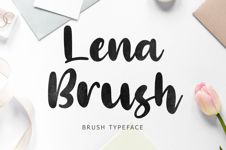 Lena Brush Typeface example image 1