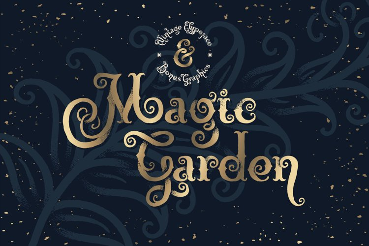 Magic Garden Font & Graphics example image 1