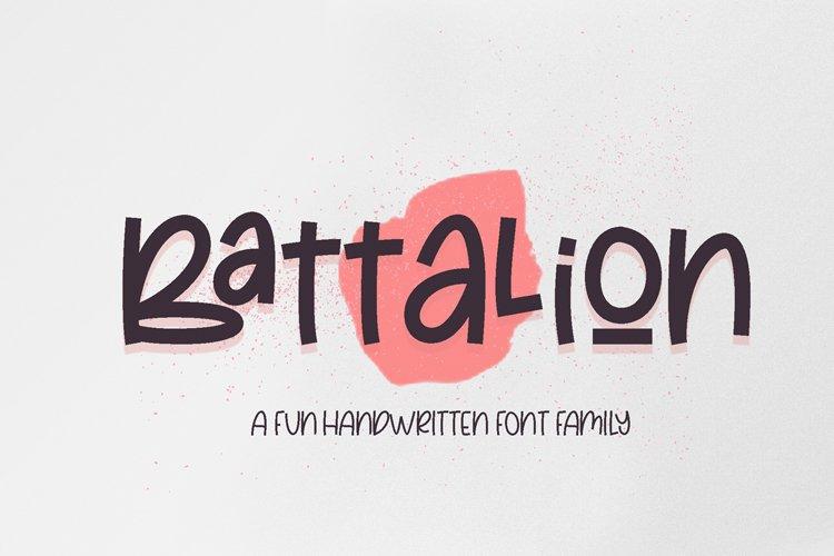Battalion - Handwritten Font Family
