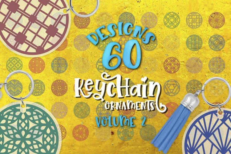 Keychain Svg Bundle of 60 designs VOL 2 Geometric patterns