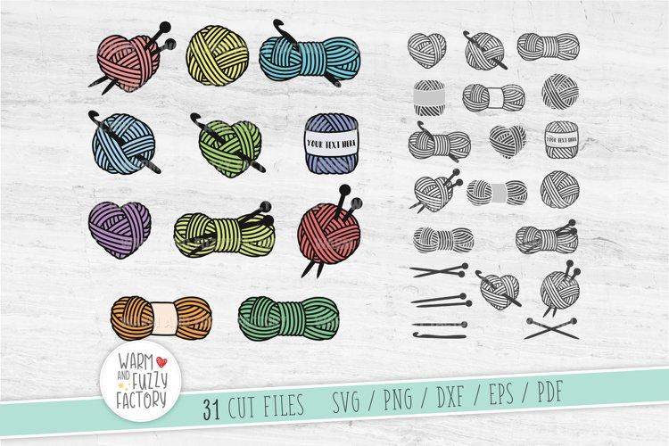 Knitting svg, Crochets svg, Yarn svg bundle, Crochet neddles