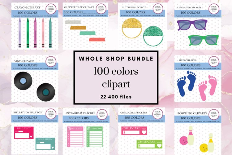 Whole Shop Stickers Bundle, Entire Store Deal, 100 Clipart example image 1