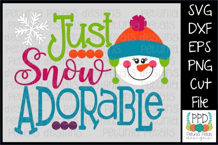 Just Snow Adorable Snowman SVG 11218