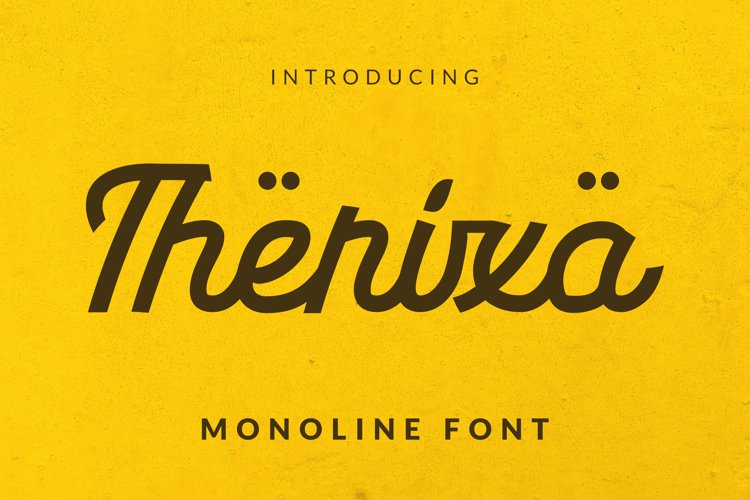 Therixa Font example image 1