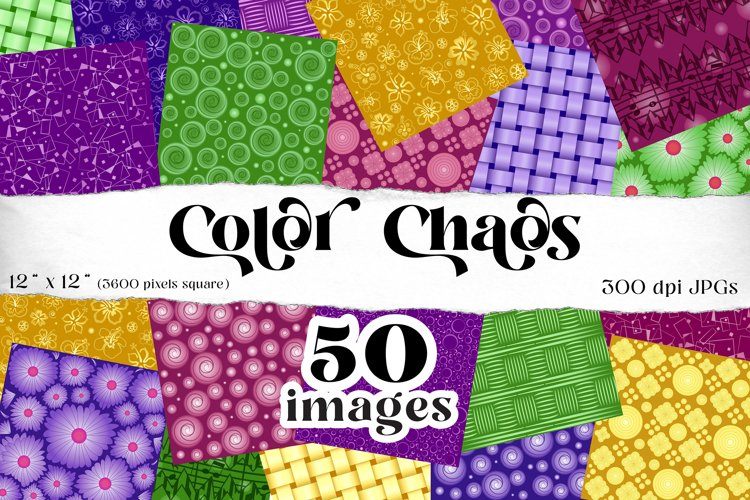 Color Chaos digital backgrounds, 50 high-res JPGs