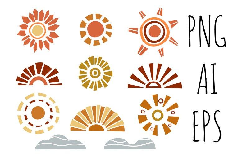 Boho Sun Sublimation PNG Clipart, Boho Sun Clipart