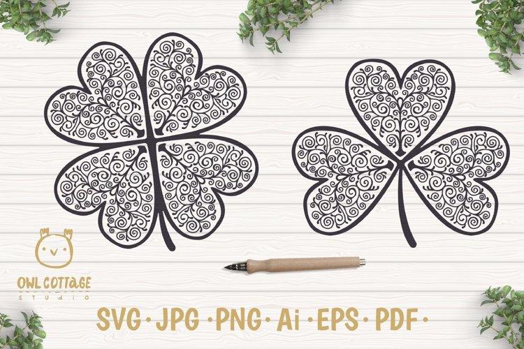 St. Patricks day svg, Clover Leaf, Clover Leaf Tattoo example