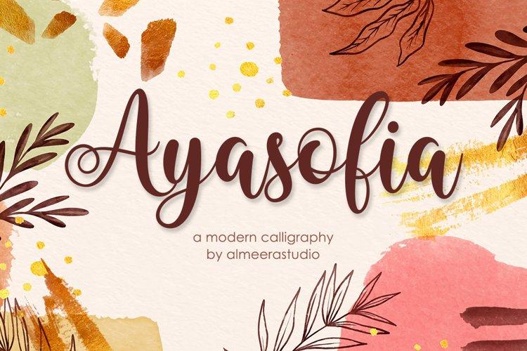 Ayasofia | Modern Calligraphy example image 1