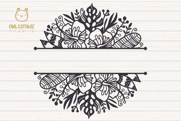 Tropical Border SVG, Luau Decor SVG File, Wedding Flowers example 1