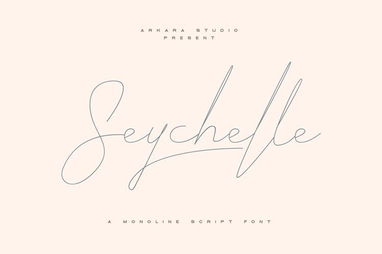 ARK Seychelle - Exotic Monoline Font example image 1