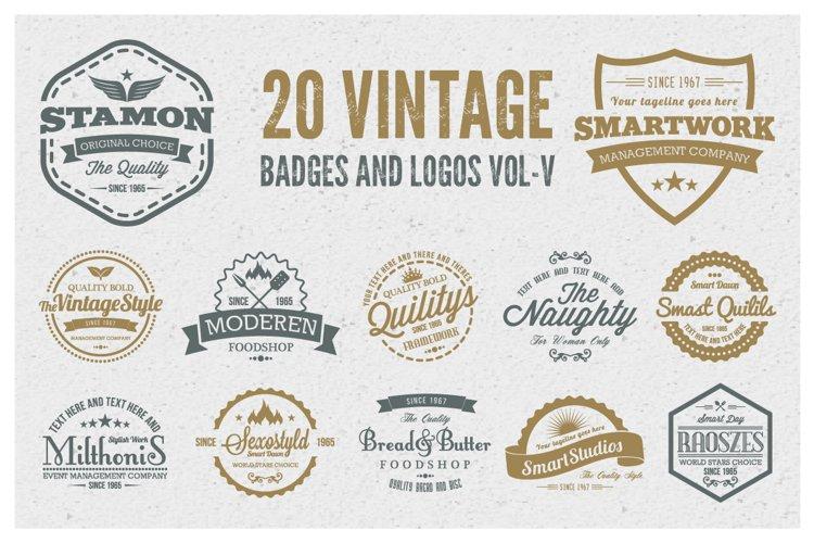 Vintage Badges and Logos Vol-5