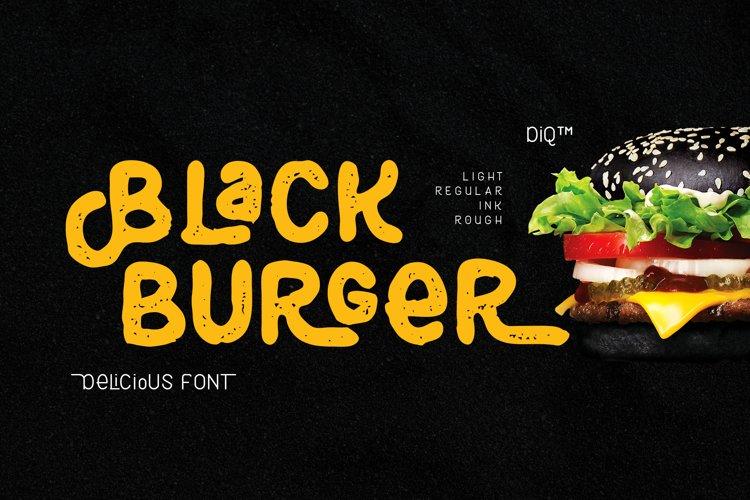 Black Burger Font Family